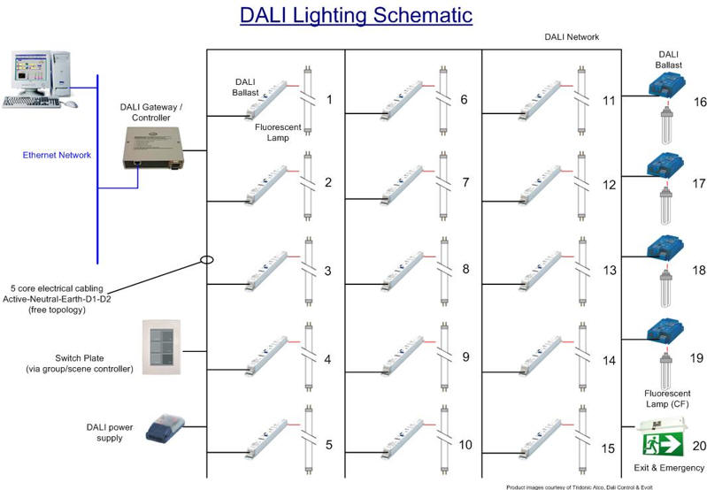 automatedbuildings.com article - dali is here & here to stay dali ballast wiring diagram dali wiring diagram