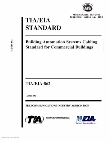 automatedbuildings.com article - using structured cable ... house wiring standards